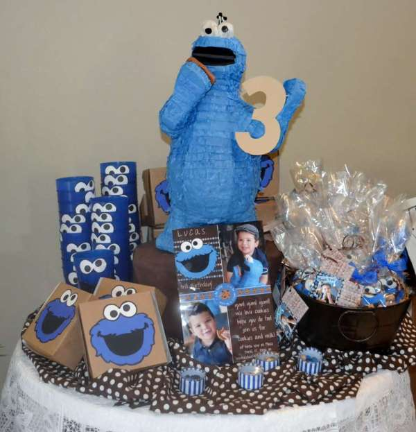 Cookie Monster Birthday Party Ideas 1 Of 29