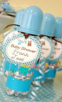 Brown and Blue clothes and airplane Baby Shower Party ...