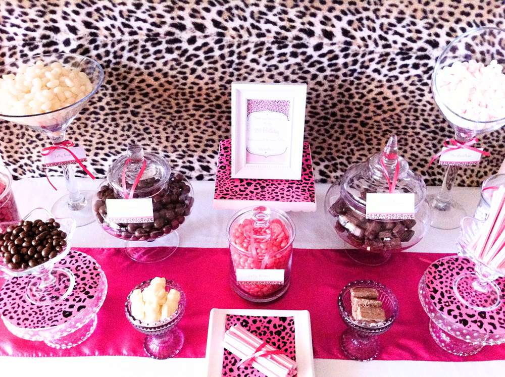 Brown & Pink Cheetah Print Birthday Party Ideas Photo 1