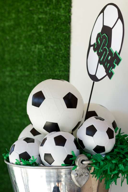 soccer party Birthday Party Ideas  Photo 10 of 11  Catch