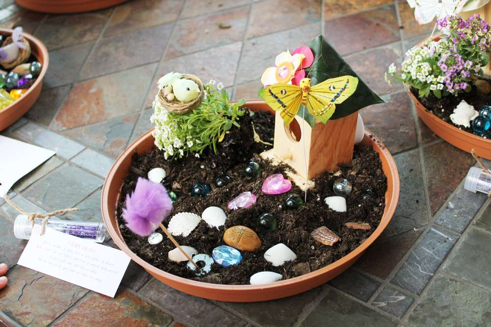 Fairy Garden Party Birthday Party Ideas Photo 34 Of 55 Catch