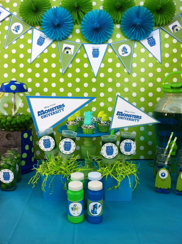 Monsters Inc Movie Theme Party Ideas  Photo 1 Of 13