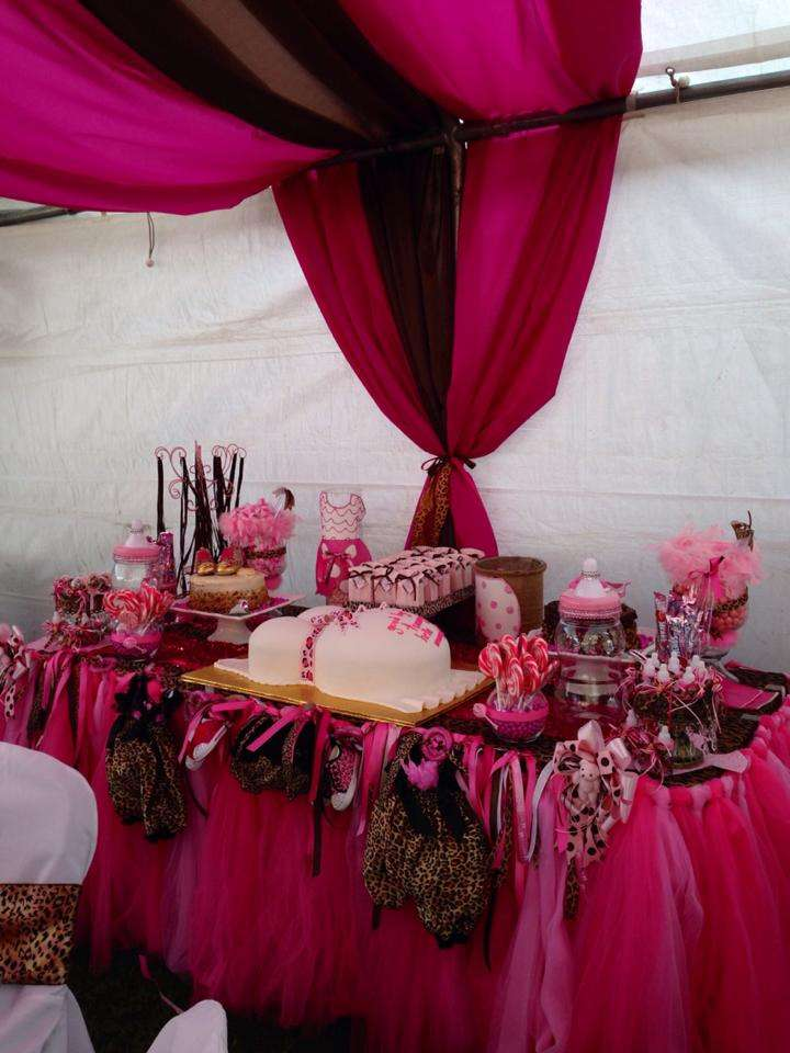 PinkCheetah Baby Shower Party Ideas  Photo 1 of 16  Catch My Party