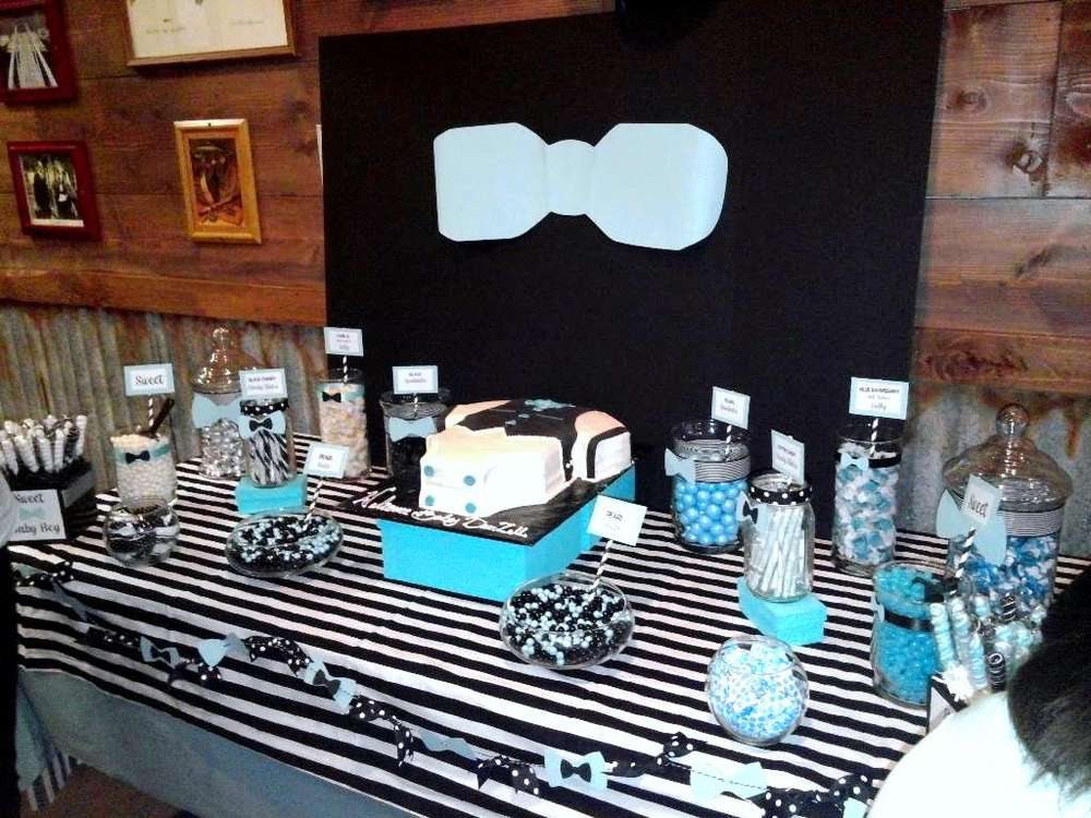 Bowties And Bottles Baby Shower Party Ideas Photo 1 Of 9