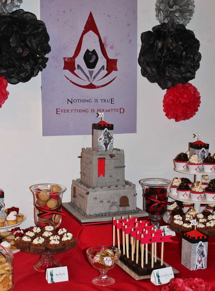 Assassins Creed Birthday Party Ideas Photo 9 Of 10