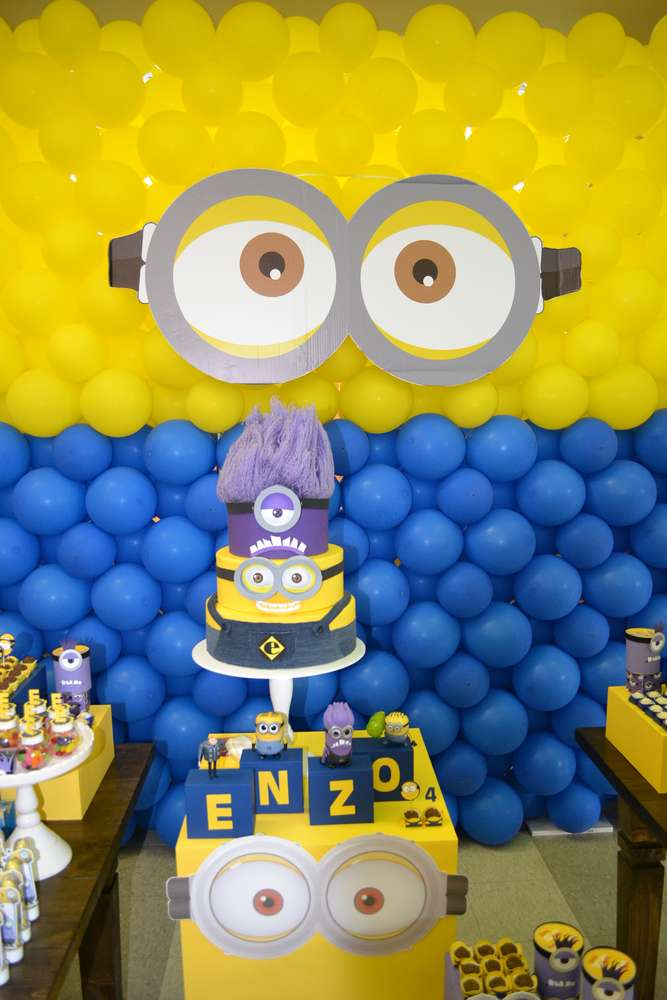 minni mouse chair cheap hand despicable me / minions birthday party ideas | photo 3 of 7 catch my