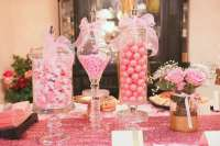 Pink and Gold Baby Shower Baby Shower Party Ideas | Photo ...