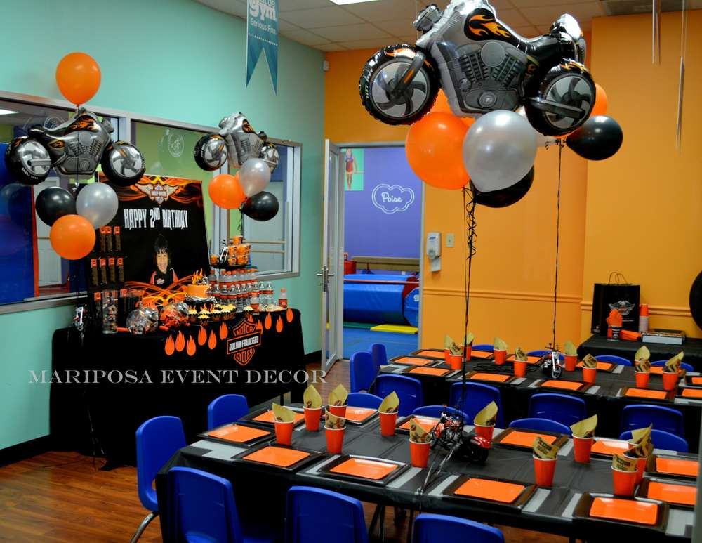 Harley Davidson Motorcycle Party Birthday Party Ideas