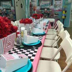 Mickey Mouse High Chair Decorations Hanging Interior 1950's Sock Hop Birthday Party Ideas | Photo 9 Of 20 Catch My