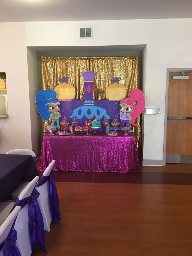 Shimmer And Shine Birthday Party Ideas Photo 3 Of 12