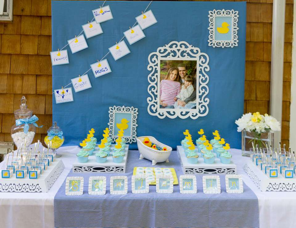 Yellow Rubber Duck Baby Shower