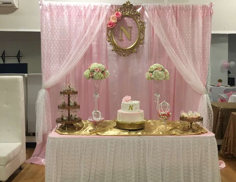 "Vintage / Baby Shower ""Lace and Pearls Babyshower"""