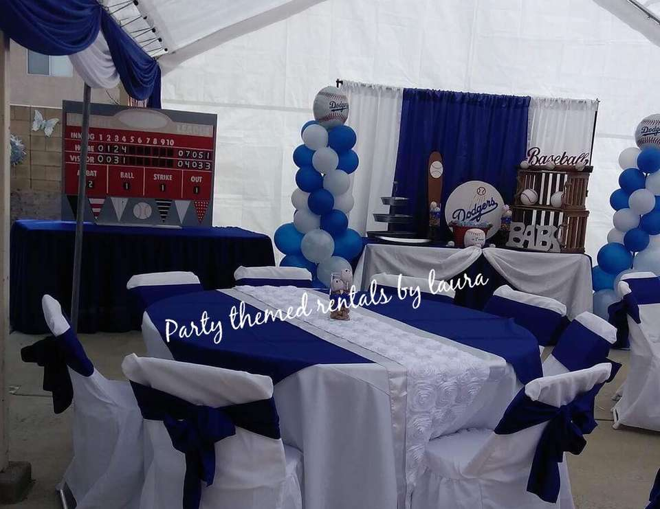 """Dodgers Theme Baby Shower """"Dodgers Baby Shower"""" Catch"""