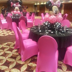 Hot Pink Spandex Chair Covers Modern Chairs Minnie Mouse Polka Dots Baby Shower Party Ideas | Photo 7 Of 10 Catch My