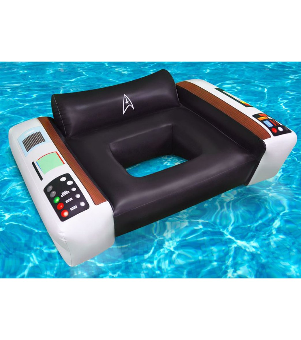 chair pool floats danish teak chairs for sale big mouth toys officially licensed star trek captain s float at swimoutlet com