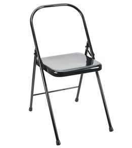 folding metal yoga chair kmart baby high chairs everyday tall backless at yogaoutlet com
