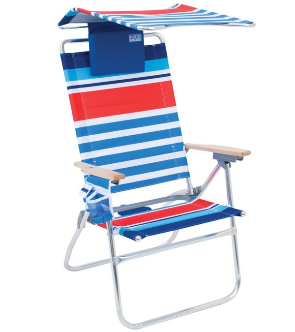 Rio Brands -boy Aluminum Beach Chair With Canopy And Pillow - Free Shipping