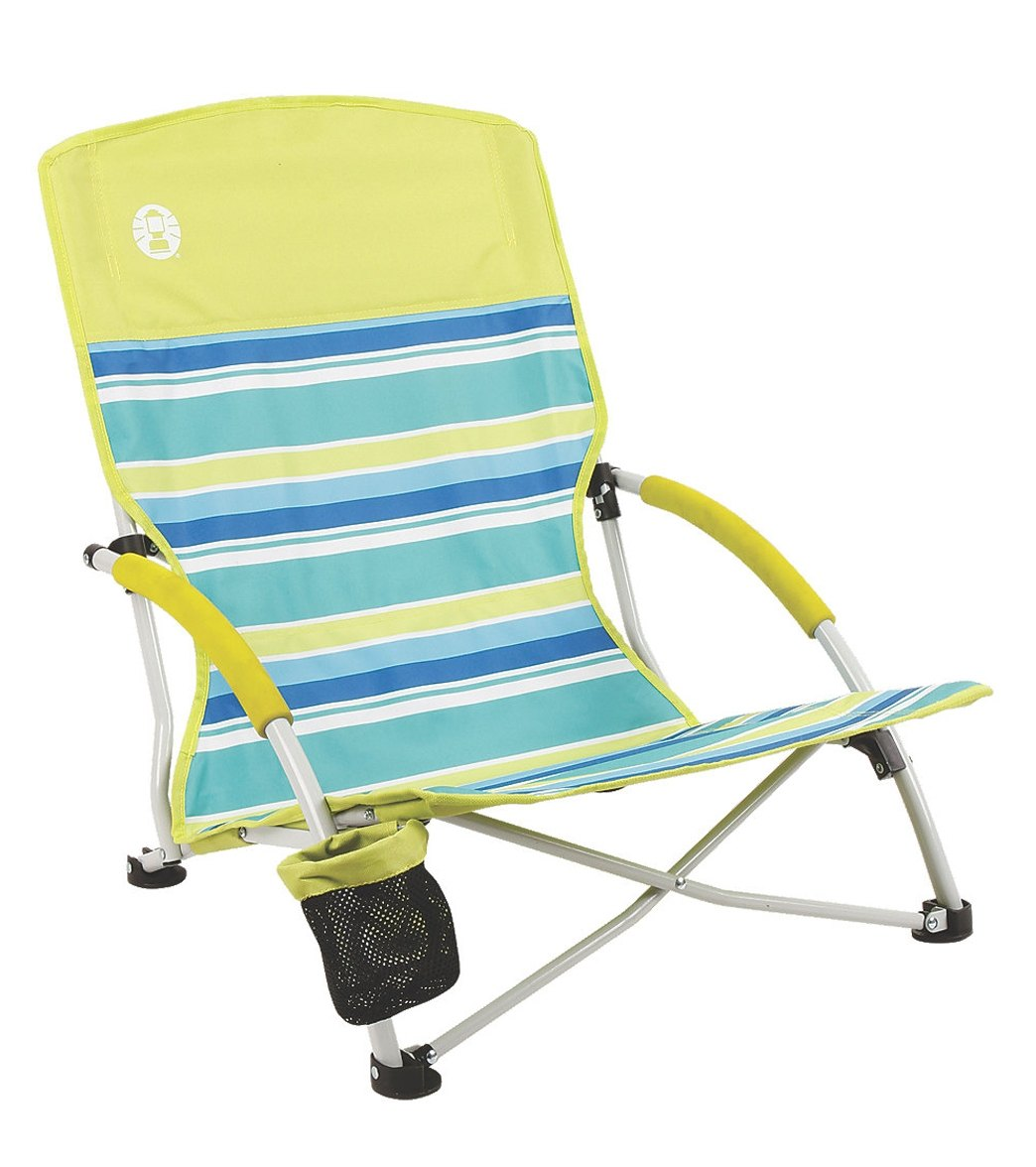 Low Folding Beach Chair Coleman Deluxe Low Sling Beach Chair