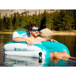 Floating Chair For Lake Blue Kitchen Cushions With Ties Coleman Inflatable Water Lounge At Swimoutlet