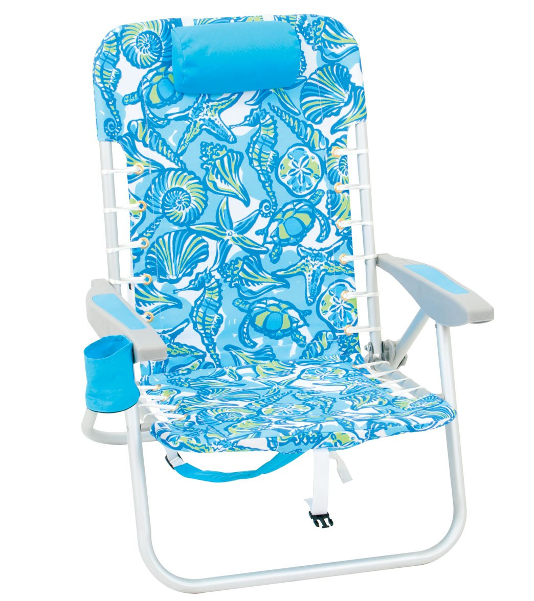 hi boy beach chair with canopy dark green outdoor cushions rio brands summer twist sea life print the lace up