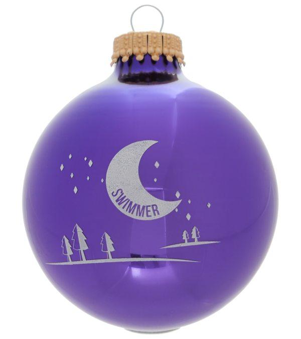 Bay Six Swimmer Starry Night Ornament