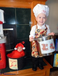 Chef and Lobster Kids Halloween Costume