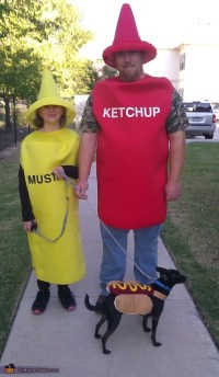 Hot Dog with Ketchup and Mustard Costume