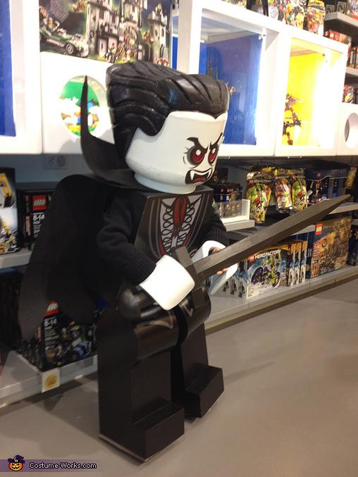 Lego Lord Vampire DIY Halloween Costume Photo 25