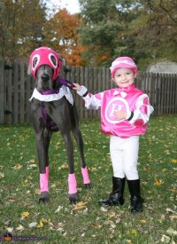 Little Jockey and Race Horse Costume