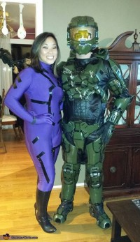 Master Chief and Cortana Couple Costume