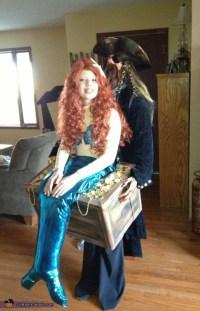 Mermaid in Pirate's Treasure Chest Costume