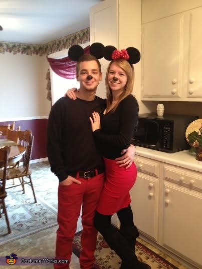 Minnie and Mickey Mouse Couples Halloween Costume