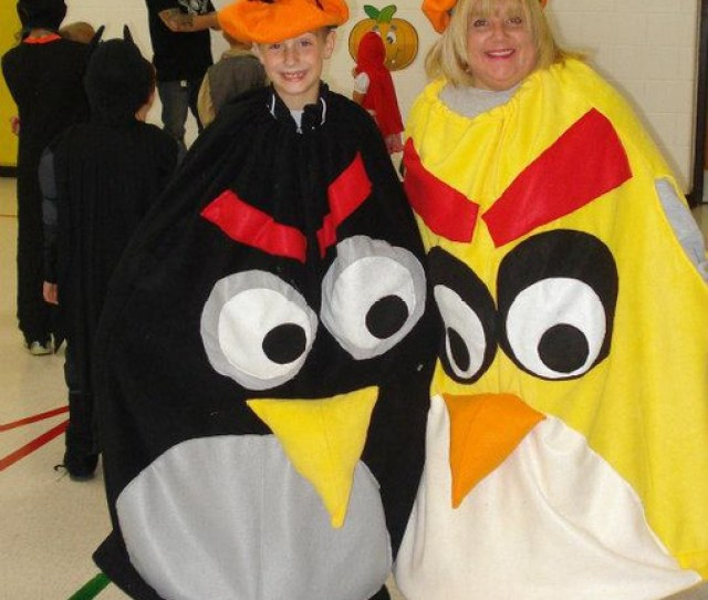 Mom And Son Angry Birds Costume