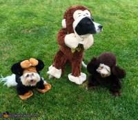 No Evil Monkeys Dogs' Costumes