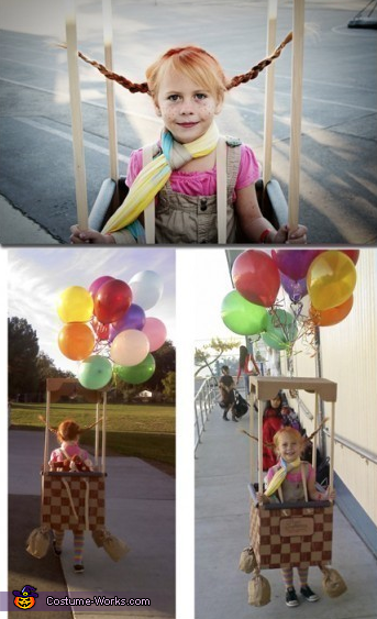 Pippi Longstocking in a Hot Air Balloon Halloween Costume  Photo 33