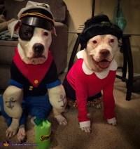Popeye and Olive Oyl Dog Costumes