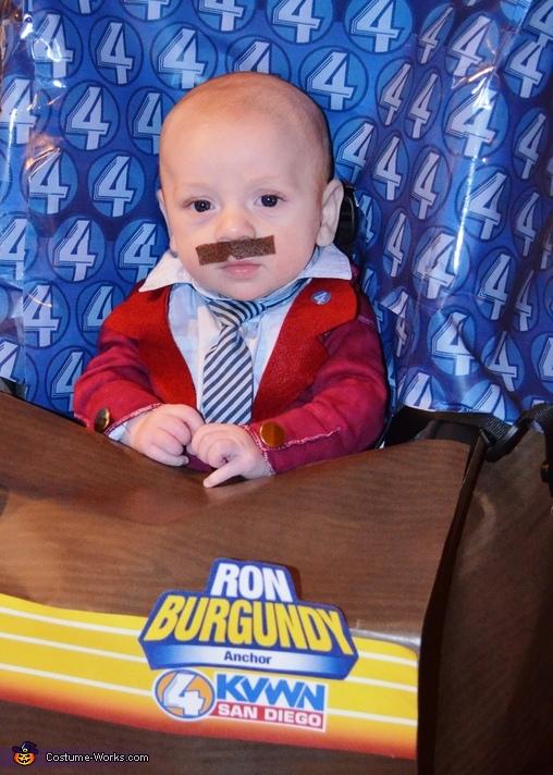 Ron Burgundy Baby Halloween Costume