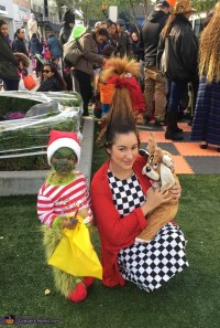 The Grinch, Cindy Lou Who, and Max the Dog Family Costume