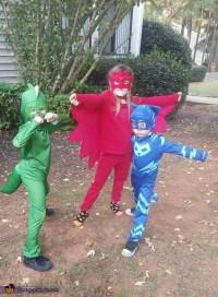 The PJ Masks Catboy, Gekko, and Owlette Costume