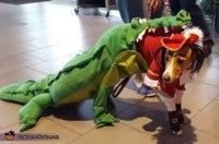 Tick Tock Croc chasing Captain Hook Dog Costume