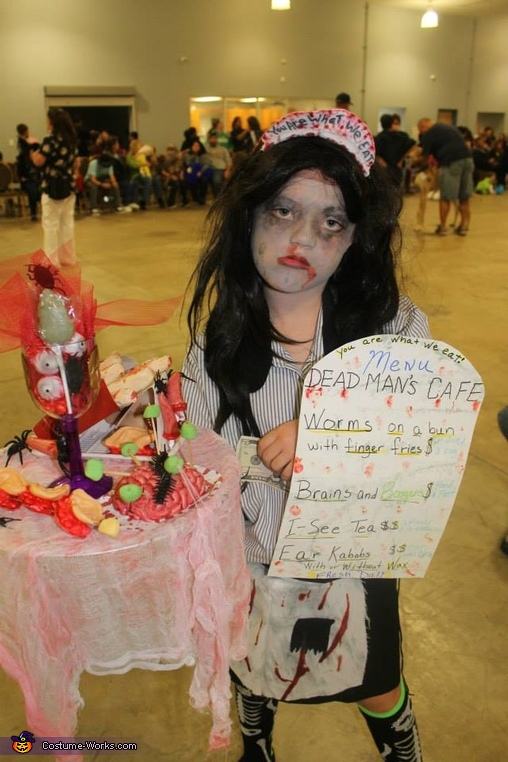 Waitress Zombie Costume