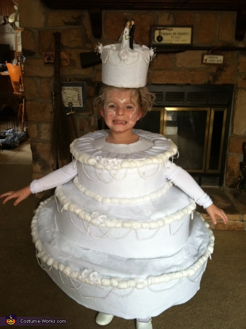 Homemade Wedding Cake Costume For Girls