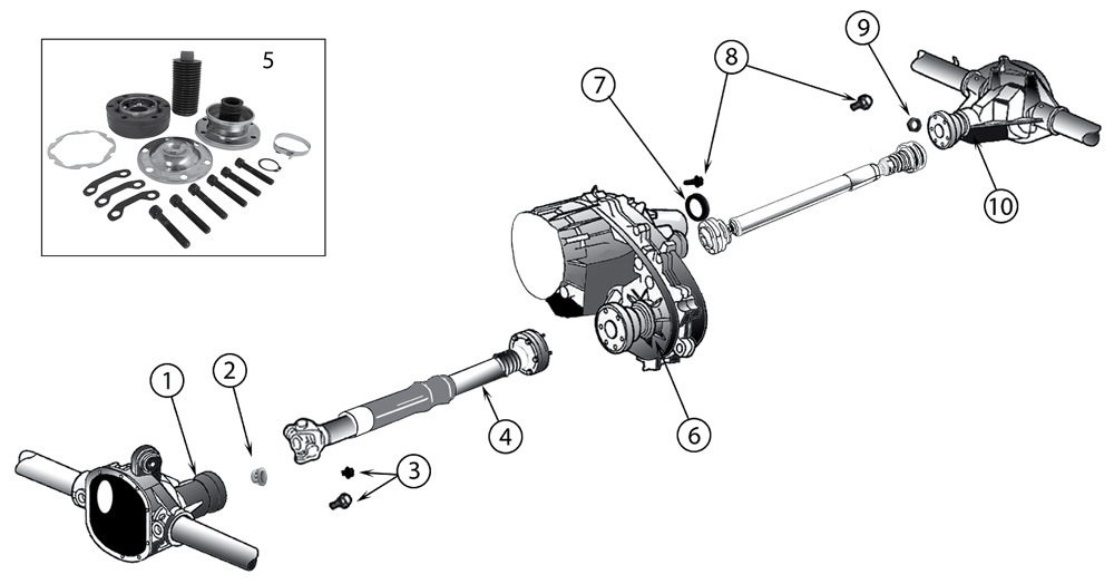Diagrama Ejes transmision Jeep WK/WH Grand Cherokee 2005