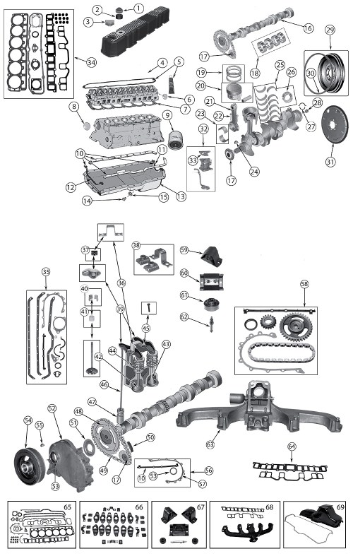 small resolution of diagrama 4 2 litros 258 amc motor jeep yj wrangler 1986 1996jeep