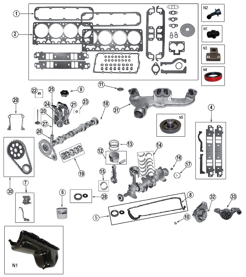 Diagram 5.2 Liter (318) Daimler-Chrysler Engine Jeep ZJ/ZG