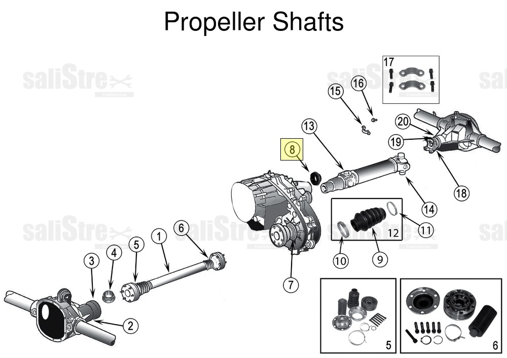 Shaft SEAL output shaft, rear Jeep Cherokee, Liberty KJ