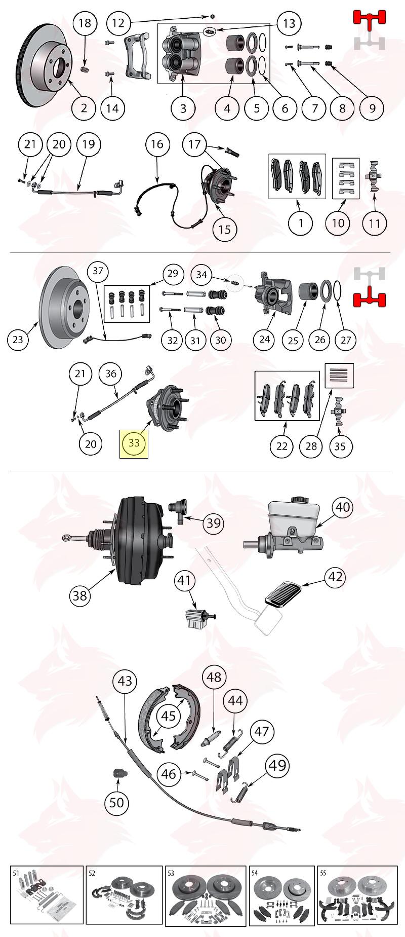 Article pour model 52111884AB Jeu de roulements de roue