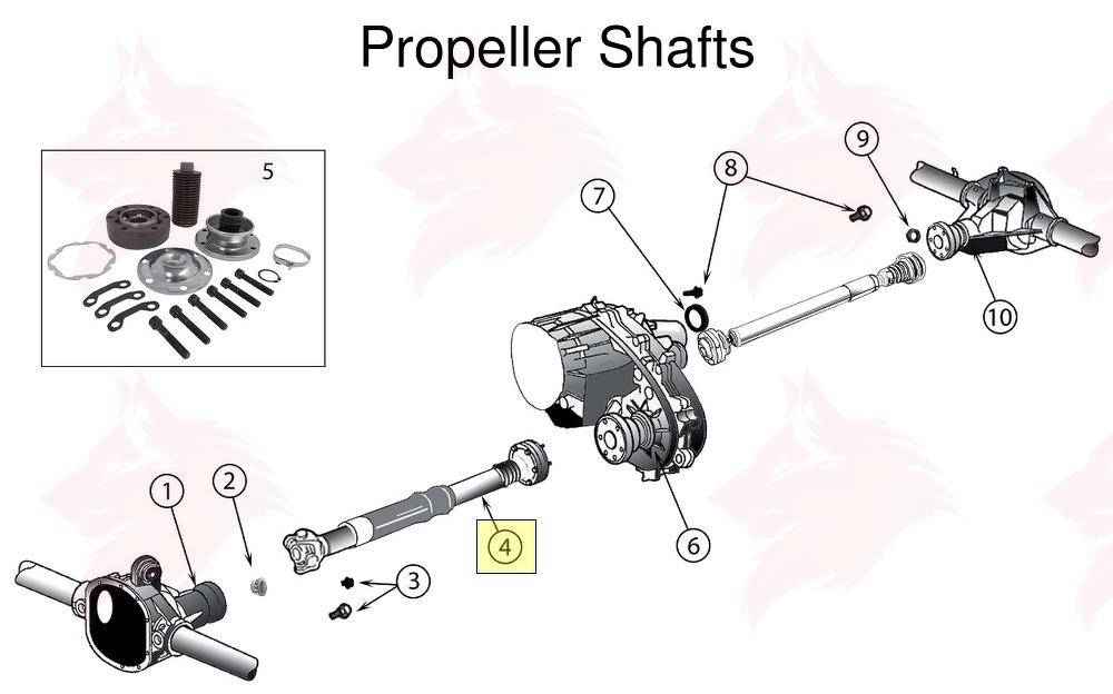 Article pour model 52853431AA Arbre de transmission, avant