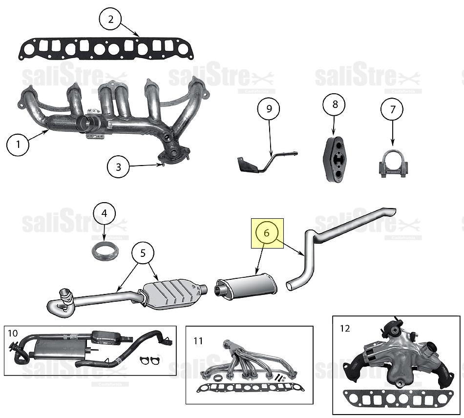 Kit de escape y silenciador Jeep Wrangler TJ 2000/2006 (2