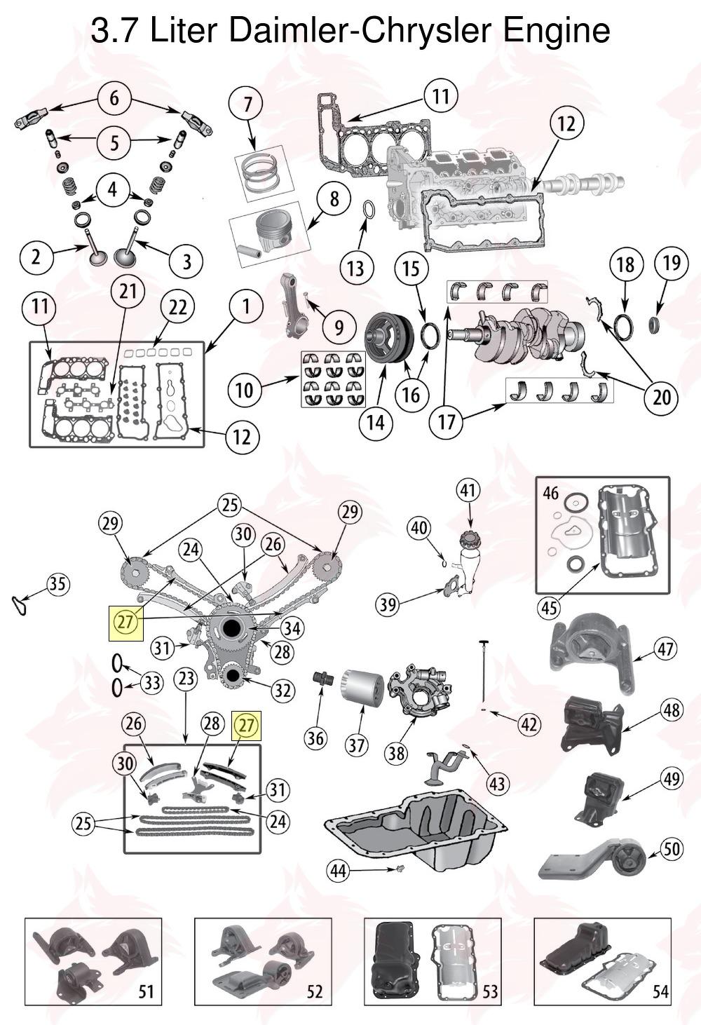 Article pour model 53021293AA Guide de chaîne de